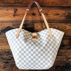 JUST IN! Louis Vuitton Damier Azur Salina GM! Call/text us at 813-382-9491 if you would like to purchase before it goes online!