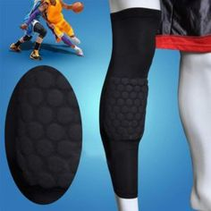Actpe A Pair of Basketball Strengthen Kneepad Honeycomb Pad Crashproof Antislip Leg Knee Long Sleeve Protective Pad - Black, Large Basketball Shoes For Men, Sports Basketball, Basketball Players, Mid Top Shoes, Kids Braces, Basketball Photography, Sprained Ankle, Legs, Honeycomb