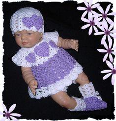 baby dress newborn dress crochet baby clothes coming home