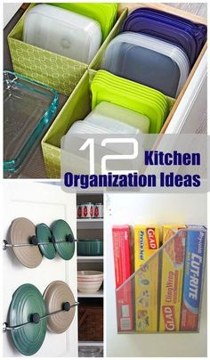 12 Super Simple Kitchen Organization Ideas Organize your kitchen with these 12 easy organization ideas. Declutter and refresh the most used room in your home! Tupperware Storage, Tupperware Organizing, Organizing Hacks, Organisation Hacks, Hacks Diy, Organising, Estoque Do Trailer, Kitchen Storage Hacks, Kitchen Organization Ideas Diy