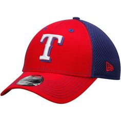Texas Rangers New Era Team Front Neo 39THRITY Flex Hat - Red/Royal