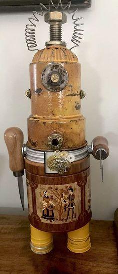 "Found Object Robot ""Alien Bot"" steampunk assemblage | eBay"