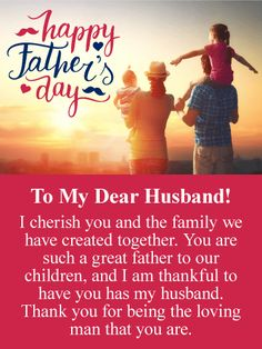 I Cherish You - Happy Father's Day Card from Wife: Let your husband know tha. - Father's Day in 2019 Husband Fathers Day Quotes, Fathers Day Verses, Fathers Day Images Quotes, Happy Father's Day Husband, Happy Fathers Day Message, Happy Fathers Day Greetings, Fathers Day Messages, Happy Fathers Day Images, Fathers Day Wishes