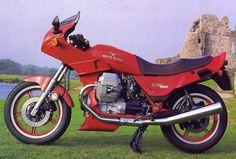 Moto Guzzi Le Mans 1000 V. 81 PS und nur 950 cc. Mäßige Verarbeitung, aber toller Motor.