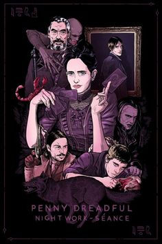 Illustration by David M. Penny Dreadful Tv Series, Eva Green Penny Dreadful, Dorian Gray, Frankenstein, Penny Dreadfull, Abraham Van Helsing, Best Television Series, Tarot, Game Of Thrones