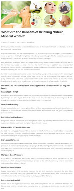 Have you ever noticed, why Natural Mineral Water is at an increasing demand in people? Everyone is ready to spend on Healthy drinking natural mineral water Natural Mineral Water, Drinking Water, Healthy Drinks, Health Benefits, Minerals, Nature, People, Naturaleza, Nature Illustration
