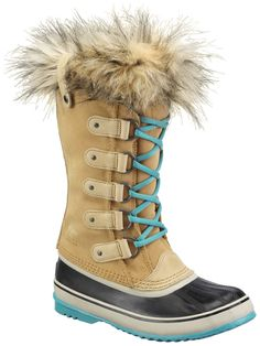 RARE!! CURRY SOREL WOMENS JOAN OF ARCTIC LACE UP SNOW WINTER BOOTS WATERPROOF #SOREL #SnowWinter