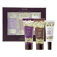 "What it is: A trio of  Tarte's deluxe-size Clean Slate Primers in new and improved formulas.What it does: Infused with naturally derived ingredients that will power through the day, these primers help you to achieve a flawless ""pore-less"" and ""cr"