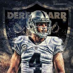 The new face of the Oakland Raiders, quarterback Derek Carr. Oakland Raiders Images, Raiders Girl, Oakland Raiders Football, Nfl Oakland Raiders, Raiders Quarterback, Giants Baseball, Pittsburgh Steelers, Dallas Cowboys, Derek Carr Raiders