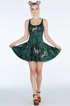 Forest Friends Evil Skater Dress- 7 Day Unlimited (A$85)