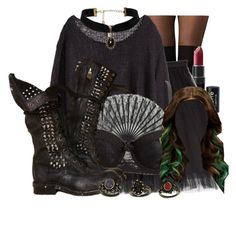 """""""Jade West Inspired Outfit"""" by demiwitch-of-mischief ❤ liked on Polyvore featuring Boohoo, NYX, Paul & Joe Sister and Charlotte Russe"""
