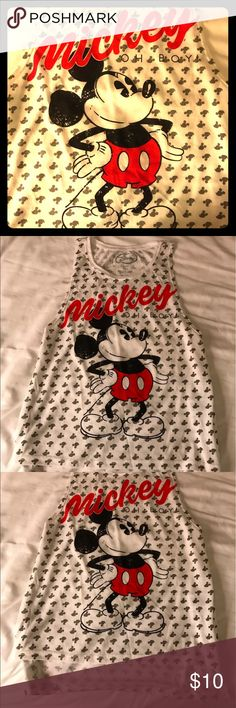 New Disney Mickey Mouse basketball tank / t shirt Brand new Disney Mickey Mouse men's style women's tank or sleeveless tee shirt. So cute I'm obsessed with these kind of shirts for summer right now and vintage style Disney is very popular right now. Size medium but fits more like a small or x small or like a juniors size large. Message for further details photos or offers. PS ------ all of my clothing can be bundled together for huge discounts just ask me about it!! Disney Tops Muscle Tees