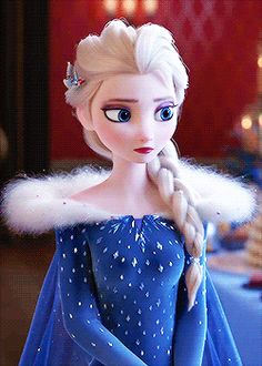 """when they gave Elsa a new outfit and it looks similar to Jack Frost's blue frosty hoodie.. """