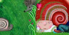 """""""Улитка"""" детская книга-картонка с вырубкой"""