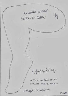 FELTRO MOLDES ARTESANATO EM GERAL: BAILARINA