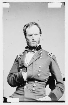 """Major General William T. Sherman, Courtesy Library of Congress.  Southerners should never want to associate with people such as Sherman, nor with those that consider him a """"hero"""".  He was a war criminal and should have been hung."""