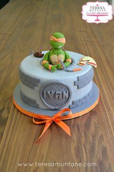 tarta tortugas ninja fondant