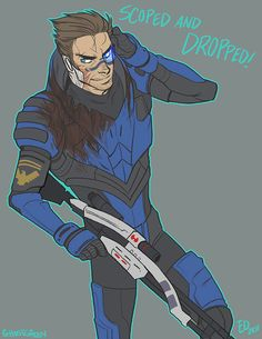 rurone:    jakface:    ghostgreen:    had another crack at it because i didn't like the first one.  Garrus's armor is stupidly hard to draw. pretend i did it correctly ok        More, please.  Forever and ever.