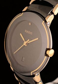 Rado Watch (Women's Pre-owned Diastar Wristwatch, Stainless Steel & Ceramic Ladies Watches) Latest Women Watches, Trendy Watches, Elegant Watches, Luxury Watches For Men, Beautiful Watches, Cool Watches, Ladies Watches, Woman Watches, Fine Watches