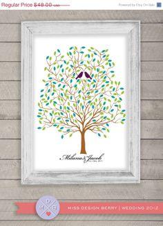 wedding guest book alternative  Wedding Tree spring by MDBWeddings, $38.40