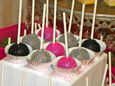 Glitter Pops ~ fun for any girly theme party!