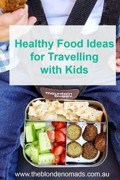 One of the most challenging things about travelling with little ones is feeding them fresh healthy food on the go. Steer clear of buying processed and sugary snacks and let us inspire you with some healthier options