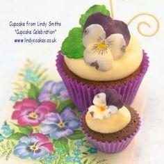 Violet cupcake topper