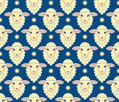 counting sheep fabric by sef on Spoonflower - custom fabric
