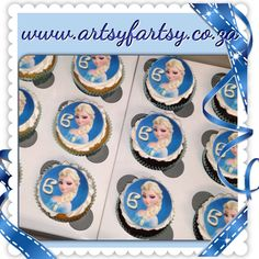 Frozen Edible Picture Cupcakes
