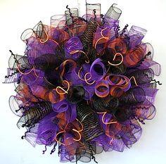 halloween_mesh_ribbon_wreath idea