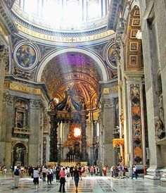 St Peter's Basilica, Rome - Mass in St Peter's Basilica is in Italian and makes for an amazing experience for anyone. It follows in a Catholic tradition going back centuries. http://www.8thingstodo.com/st-peters-basilica-rome