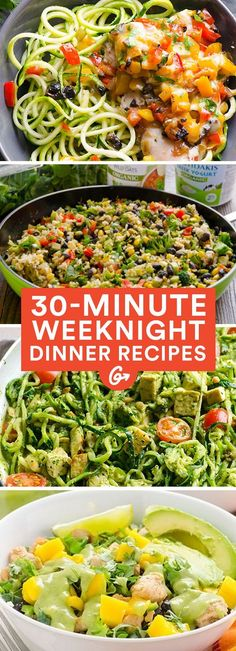 Cooking healthy meals doesn't have to be expensive or a giant time suck. These recipes prove it. #healthy #weeknight #dinners http://greatist.com/eat/clean-eating-recipes-for-busy-weeknights