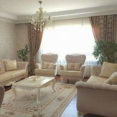 Living Room Decor Colors, Fancy Living Rooms, Stylish Home Decor, Luxury Living Room, Luxury Living Room Design, Curtains Living Room, Living Room Decor Curtains, Living Room Decor, Home Decor Furniture