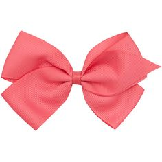 Verity Jones Large Pink Bow Clip ($9.36) ❤ liked on Polyvore featuring accessories, hair accessories, hair and bows