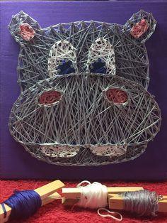hippo hippopotamus fiona cincinnati zoo baby animal custom string art