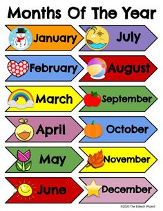 Days of the week Months of the year printable vipkid   Etsy