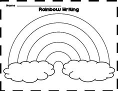 Extra Large Rainbow Template - Full Page Printout | Speech Therapy ...