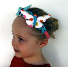 Items similar to Happy Butterfly Headband hair ornament / adornment for little girls on Etsy Fabric Butterfly, Butterfly Baby Shower, Hair Ornaments, Girls Accessories, Headband Hairstyles, Happy Day, Etsy Store, Headbands, Little Girls