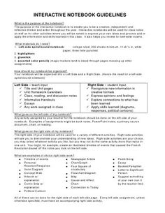 Interactive notebook guidelines: I'm gathering info to start using INs in social studies
