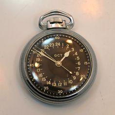 1942 Elgin WWII-era Military Aviator Navitimer Base Metal Pocket Watch