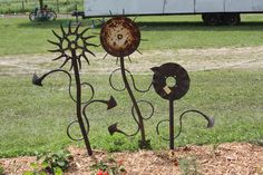 Welded Flower Sculpture