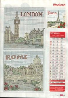 cross stitch london/rome