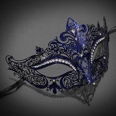 Detalhes sobre as mulheres de luxo filigrana de metal Laser-Cut Venetian Mardi Gras Masquerade Mask [Blue] - Одежда в стиле фэнтези - Masquerade Party Outfit, Blue Masquerade Masks, Sweet 16 Masquerade, Masquerade Ball Gowns, Venetian Masquerade, Venetian Masks, Masquerade Mask Makeup, Mardi Gras, Masquarade Mask