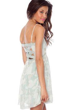 Spring into Summer Dress in Mint $36 at www.tobi.com