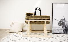 Baby Bassinet / Black Craft Moses Basket, Baby Bassinet, Hand Weaving, Baskets, Storage, Crafts, Furniture, Black, Home Decor