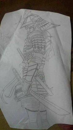 Tatto Full Tattoo, Full Sleeve Tattoo Design, Full Arm Tattoos, Japanese Demon Tattoo, Japanese Sleeve Tattoos, Geisha, Samurai Warrior Tattoo, Samurai Artwork, Japanese Tattoo Designs