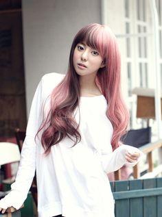 pink hair asian