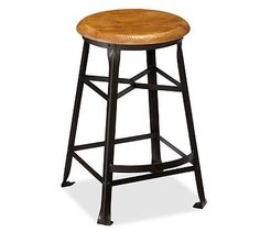 "Decker Wood Seat Barstool #potterybarn replace existing ones with (3) of these, 24"" ht"