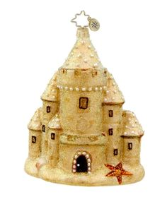 'Ocean View' sandcastle Christmas ornament ~ by Christopher Radko - (coastal, beach, seaside, tropical Christmas) Nautical Christmas, Tropical Christmas, Vintage Christmas, Beach Christmas, Christmas Vacation, Old World Christmas Ornaments, Christmas Gift Decorations, Holiday Decorating, Christmas Images