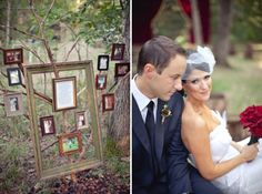 A Collage of Vintage Frames / Wedding Style Inspiration / LANE